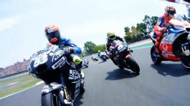 Enjoy the MotoGP™ race start from the point of view of the riders.
