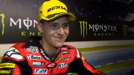 The first Moto2™ victory for the French rider at the Catalan GP but the 19 year old tried not to put too much pressure on himself
