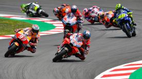 All the action from the full race session of the MotoGP? World Championship at the Circuit de Barcelona-Catalunya