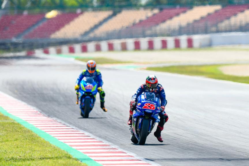Maverick Viñales, Alex Rins, Movistar Yamaha MotoGP, Catalunya MotoGP Official Test
