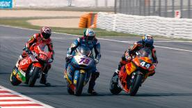 Some of the best overtaking moves from the Moto2 & Moto3 Catalan GP races.  1. Miguel Oliveira (Moto2) 54 points 2. Alonso Lopez (Moto3) 49 points 3. Livio Loi (Moto3) 44 points 4. Andrea Locatelli (Moto2) 44 points 5. Iker Lecuona (Moto2) 40 points