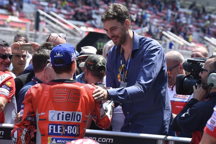 Pau Gasol, Jorge Lorenzo, Ducati Team, Gran Premi Monster Energy de Catalunya