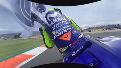 La celebración del tercer puesto de Rossi, en 360