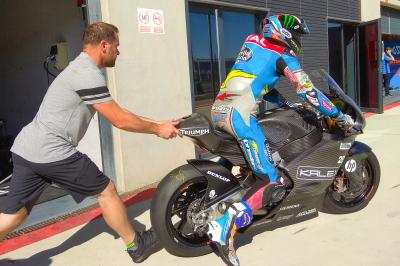 Alex Marquez tests Triumph Moto2™ engine
