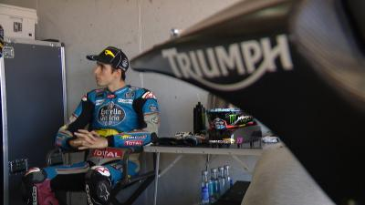 Moto2™ teams test out the new Triumph engine in Aragon