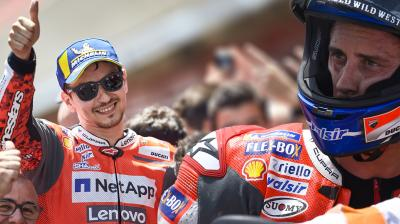 Heads and tails for Ducati at Catalunya