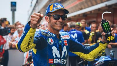 Las MotoGP™ Legends alaban a Rossi