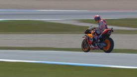 The number 93 continues his day 1 limit pushing strategy for the Dutch GP
