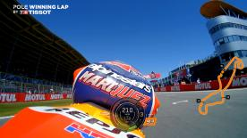 Vuelve a ver la vuelta clasificatoria del piloto del equipo Honda en el Circuito de Assen