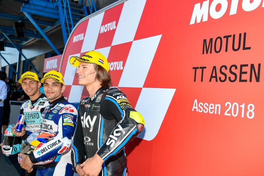 Jorge Martin, Enea Bastianini,Nicolo Bulega, Motul TT Assen