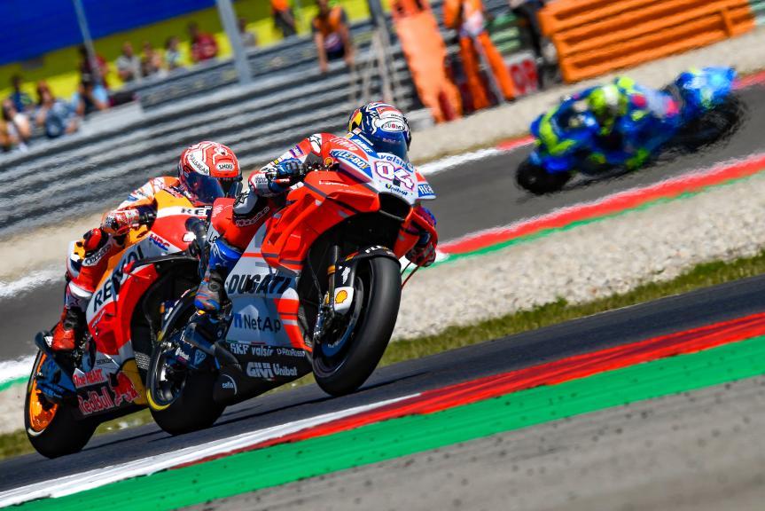 Andrea Dovizioso, Ducati Team, Marc Marquez, Repsol Honda Team, Motul TT Assen