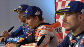 Les pilotes, arrivés aux trois premières places du GP des Pays-Bas, livrent leurs réactions en conférence de presse post-gp.