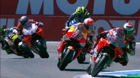 TT・サーキット・アッセンのトラックサイドに設置したハイスピードカメラが捉えた決勝レースのスローモーションビデオ。