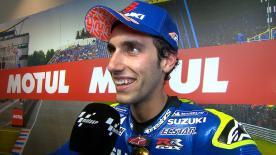 Álex Rins, deuxième à l'arrivée du GP des Pays-Bas, n'avait jamais aussi bien figuré sur une course de MotoGP™.