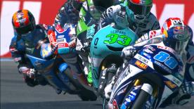 L'Espagnol, vainqueur devant Arón Canet et Enea Bastianini, repart d'Assen avec deux points d'avance sur Bezzecchi, tombé dans dernier tour.
