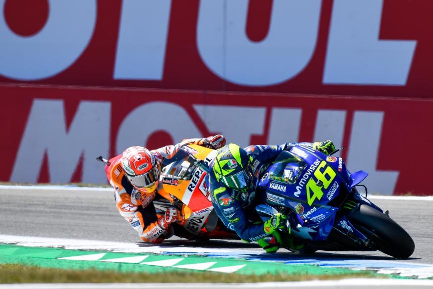 Valentino Rossi, Movistar Yamaha MotoGP, Marc Marquez, Repsol Honda Team, Motul TT Assen