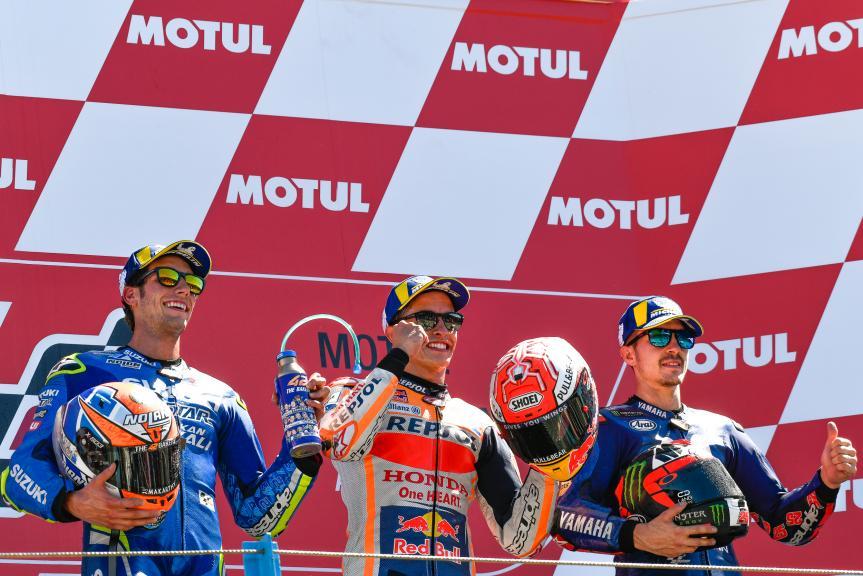 Marc Marquez,Maverick Viñales, Alex Rins, Motul TT Assen