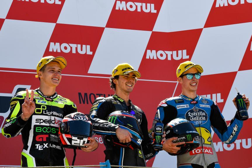 Francesco Bagnaia, Fabio Quartararo, Alex Marquez, Motul TT Assen