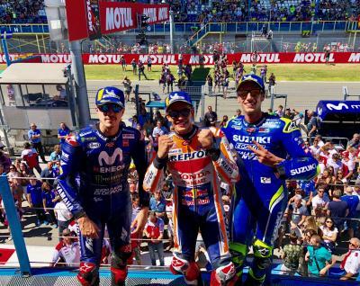 Your MotoGP™ podium: 1- Marc Márquez  2- Álex Rins 3- Maverick Viñales #DutchGP