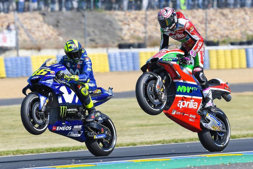 Aleix Espargaro, Aprilia Racing Team Gresini, Valentino Rossi, Movistar Yamaha MotoGP
