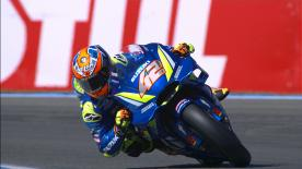 The Suzuki Ecstar rider's day started with stomach pains but the Spanish rider was soon on track to taking his best result in MotoGP?