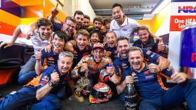 Live all the excitement of winning the closest race in history with this exclusive footage of the reigning champion & the Repsol Honda team