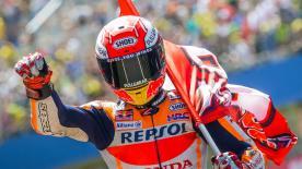 Marc Márquez aura tout compte fait eu le dernier mot lors de ce GP des Pays-Bas qui aura recensé plus de 100 dépassements.
