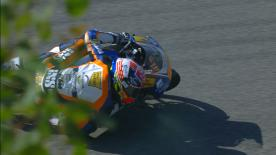 The German rider was fastest at the Sachsenring ahead of Arbolino and Martin