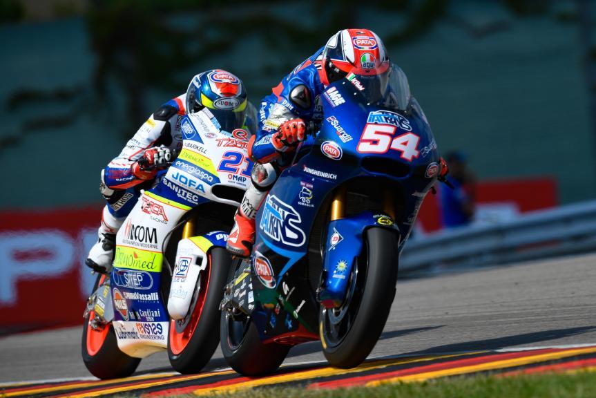 Mattia Pasini, Italtrans Racing Team, Federico Fuligni, Tasca Racing Scuderia Moto2, Pramac Motorrad Grand Prix Deutschland