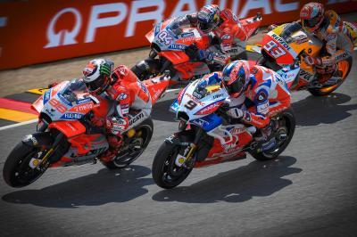 Lorenzo leads a Ducati armada on Day 1
