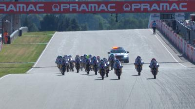 All of the action from Race 1 of the Red Bull Rookies Cup