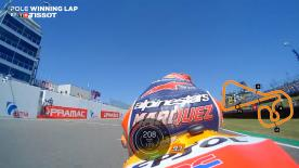 Relive the Repsol Honda rider's pole-winning lap at the Sachsenring