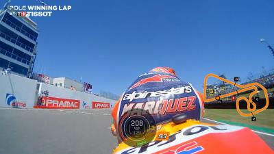 Watch Marquez' pole-winning lap for free!