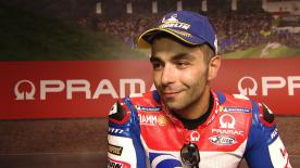 The Italian rider talks about getting a tow from Jorge Lorenzo and his high hopes for what he expects to be a tough race tomorrow