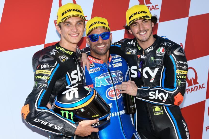 Mattia Pasini, Luca Marini, Francesco Bagnaia, Pramac Motorrad Grand Prix Deutschland