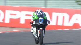 Watch the Moto3? Warm Up session ahead of the main event at the Sachsenring