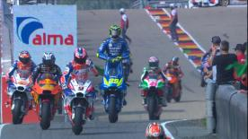 The full Warm Up session for the MotoGP? grid as they prepare to go racing for round 9 of the World Championship