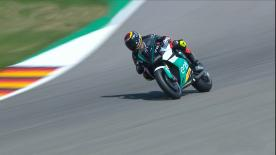The FIM Enel MotoE™ World Cup will start in 2019. See how the bike handles at the Sachsenring