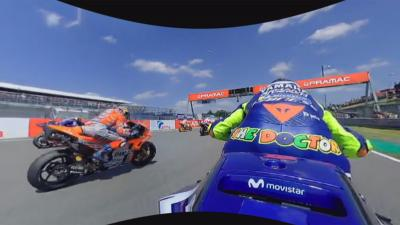 Erlebe den Start des German GP mit Valentino Rossi in 360