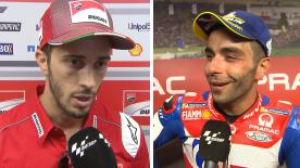 We catch up with various riders from the MotoGP? grid to get their thoughts after the thrilling race at the Sachsenring