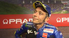 The nine time world champion took his best result of the season, saying he rode his race possible to take second.