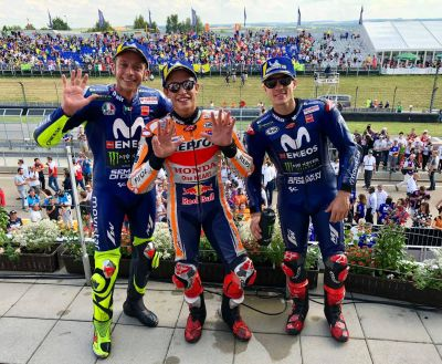 The final podium before the #MotoGP summer break