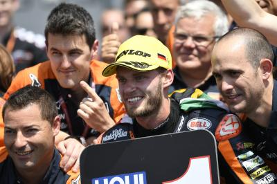 Brilliant Binder takes maiden Moto2™ win
