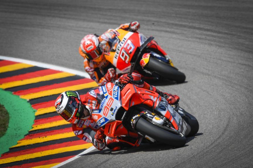 Jorge Lorenzo, Marc Marquez, Pramac Motorrad Grand Prix Deutschland