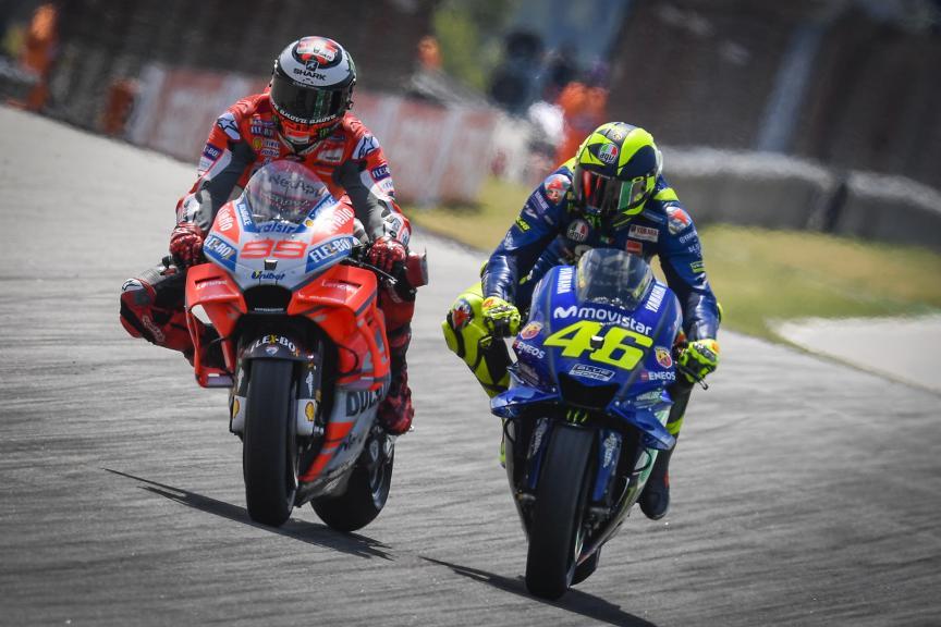 Jorge Lorenzo, Valentino Rossi, Pramac Motorrad Grand Prix Deutschland
