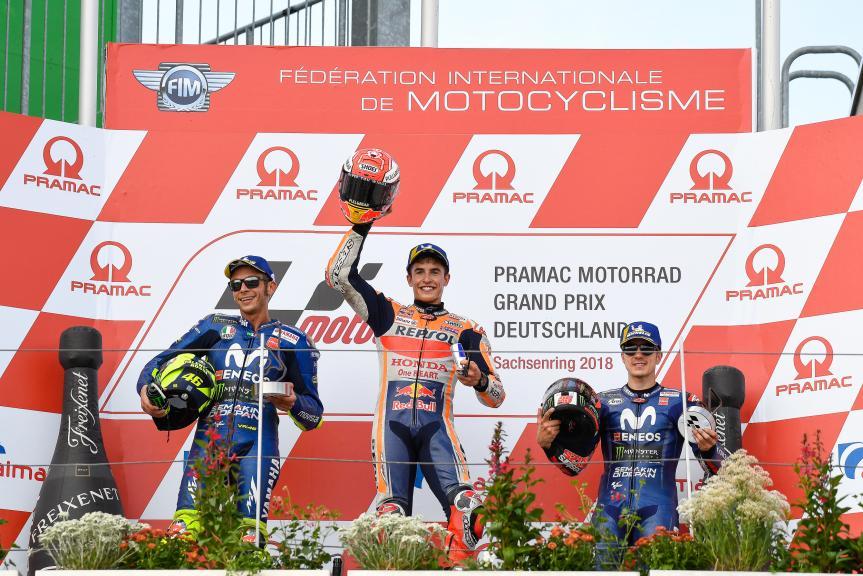 Marc Marquez, Valentino Rossi, Maverick Viñales, Pramac Motorrad Grand Prix Deutschland