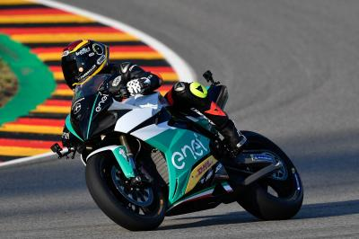 Cortese puts the Energica Ego Corsa through its paces