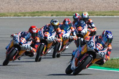 All of the action from Race 2 of the Red Bull Rookies Cup
