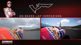 Spot the difference! A side-by-side comparison of on-track vs the in-game action of MotoGP™18