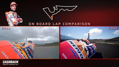 Marquez comparison lap: MotoGP18 game vs real life!